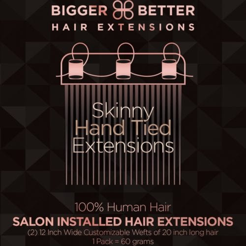 Skinny Hand Tied Extensions | Only @Biggerbetterhair